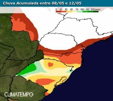 Chuva no Rio Grande do Sul