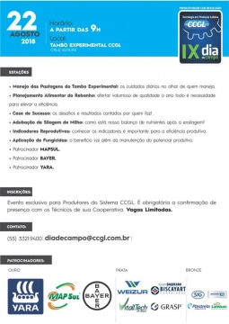 VITALLTECH DO BRASIL participa do IX Dia de Campo CCGL
